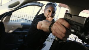 End of Watch gun in car