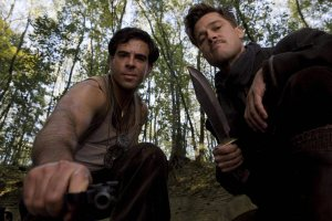 Inglourious Basterds Roth Pitt close up