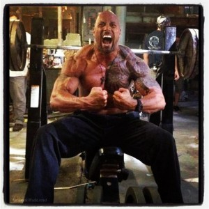 Dwayne Johnson weights