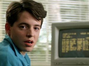 Ferris Bueller's Day off Broderick Computer