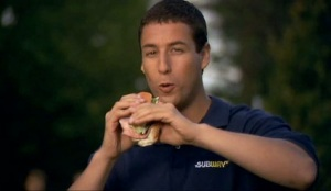 Happy Gilmore Sandler Subway