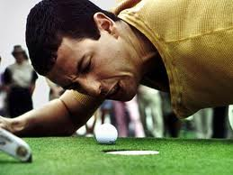 Happy Gilmore Sandler Yelling at Ball