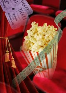 Movie Tickets Curtain Popcorn