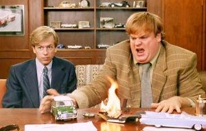 Tommy Boy Spade Farley Desk Fire