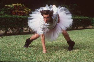 Ace Ventura Carrey Tutu football
