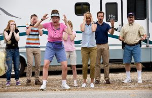 We're the Millers group outside camper